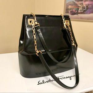 Salvatore Ferragamo 2-Way Leather Shoulder Bag 💼